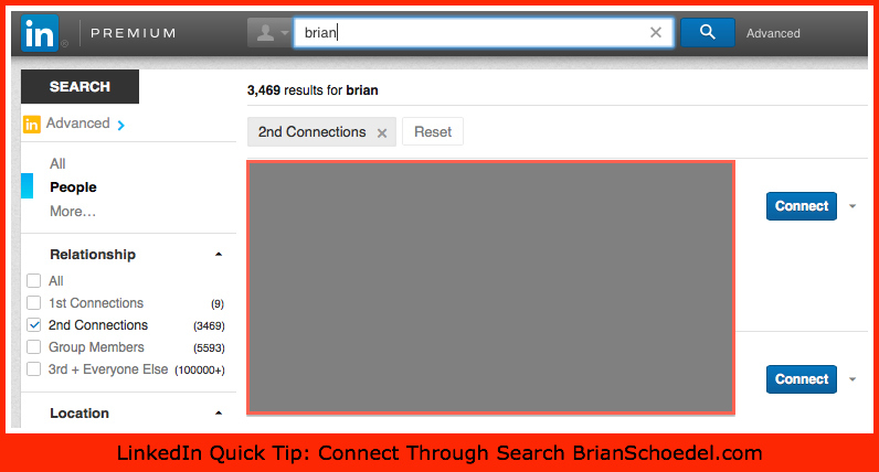 LinkedIn Request Connections Through Search Brian Schoedel